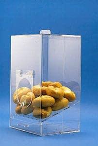 Warenpräsentation aus Kunststoff - hypgienisch und durchsichtig.